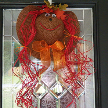 Fall door hanger, Fall Wreath, Decoration Ready to Ship