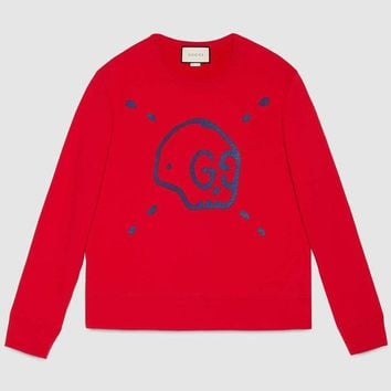 Gucci Fashion Trending Men Pullover Hoodie Long Sleeve Sweater Red G-KWKWM