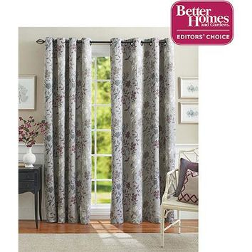 Better Homes and Gardens Calista Print Room Darkening Curtain Panel - Walmart.com