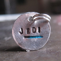 Jedi Star Wars Charm with a Blue Lightsaber