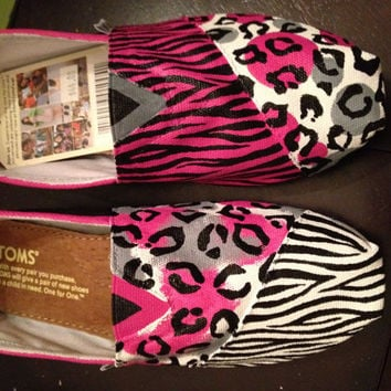 Custom Toms- Animal Print