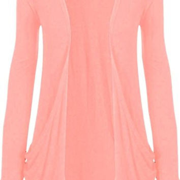 ZJ Clothes Ladies Women Boyfriend Open Cardigan with Pockets All Sizes