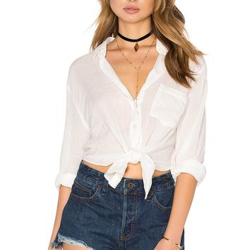 Free People That's A Wrap Shirt - Ivory