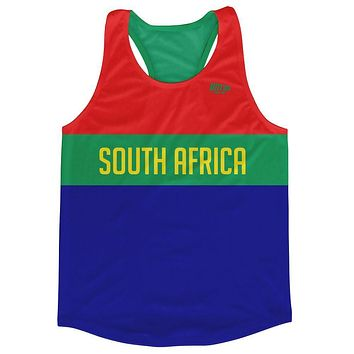 South Africa Country Finish Line Running Tank Top Racerback Track and Cross Country Singlet Jersey