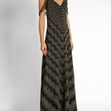 Plunging V-neck zigzag-embroidered gown | Missoni | MATCHESFASHION.COM US