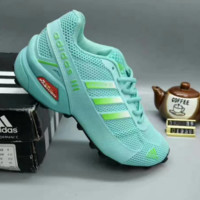 """ADIDAS"" Women  Trending Fashion Casual Sports Shoes Green line G-A50-XYZ"