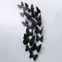 Hot 12pcs/set PVC Butterfly Home Decor Wall Stickers