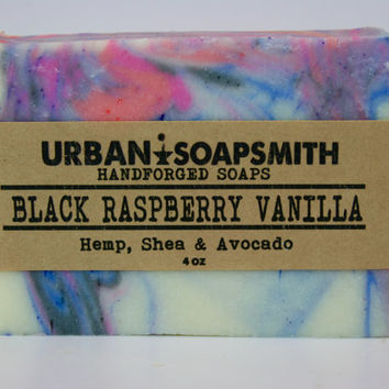 Black Raspberry Vanilla- Cold Process Soap, Bar Soap,  All Natural Soap, Handmade Soap