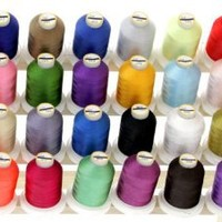 40 Large Spools Embroidery Machine Thread for Brother With Thread Locking Spool