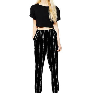 Black Striped Trousers not available