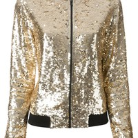 P.A.R.O.S.H. sequin bomber jacket
