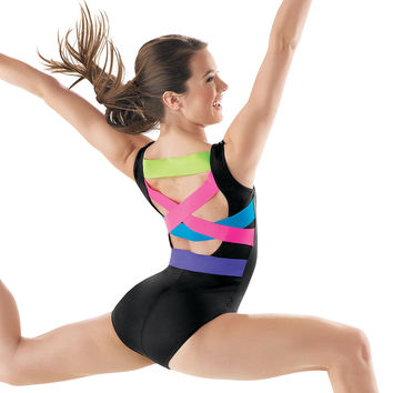 Trendy Multi-Color Back Strap Leotard; Balera