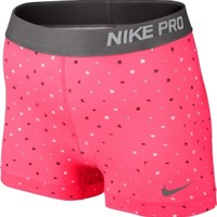 Nike Women's 3'' Pro Core Polka Square Compression Shorts