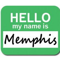 Memphis Hello My Name Is Mouse Pad