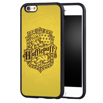 Hufflepuff Harry Potter Printed Protective Soft TPU Skin Mobile Phone Case For iPhone 6 6S Plus SE 5 5S 5C 4 4S Back Shell Cover