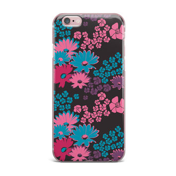 "Zara Martina Mansen ""Berry Color Bouquet"" Teal Pink iPhone Case"