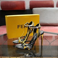 Fendi Women's Leather Fashion Colibrì High-heeled Sandals