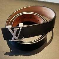 100% AUTH Louis Vuitton Icon Men belt unisex leather LV bag wallet travel shoes