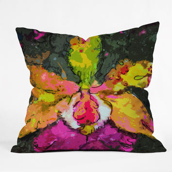 Ginette Fine Art Mesmerizing Orchid Throw Pillow