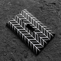 Light switchplate cover - Black & white decorative switch plate. Chevron, Arrows, Modern, bedroom, bathroom, kitchen, geometric, home decor
