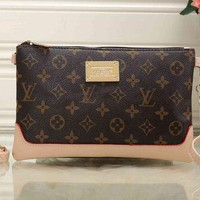 """Louis Vutitton"" Women Fashion Clutch Casual Fashion Multicolor Classic Tartan Print Zip Wallet Wristlet Bag G"