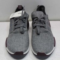 Adidas Men's Size 13 NMD_R1 Wool Running Shoes In Grey/Maroon/White CQ0761