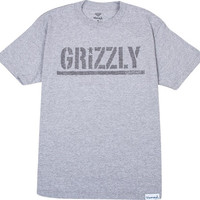 Grizzly Tonal Stamp Tee XL Heather Grey