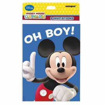 Mickey Mouse Clubhouse Party Invitations [8 per Package]