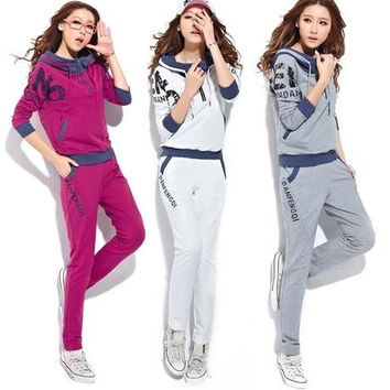 Lady Casual Suit Tracksuit Sweatsuit Sweatpants Hoodie Hoody Sweatshirt Coat New = 1932145028