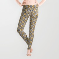 Portuguese old tiles1 Leggings by Atock
