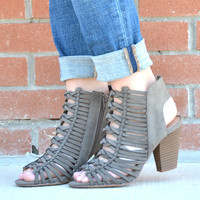 A New Reason Bootie - Gray