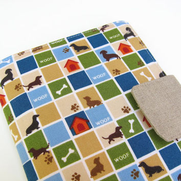 Nook Simple Touch Cover Kindle Fire Cover iPad Mini Cover Kobo Cover Case Dachshund Weiner Wiener Sausage Dog eReader