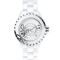 CHANEL J12 White Graffiti 38mm Watch