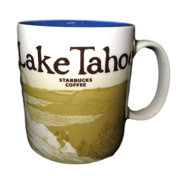 New Lake Tahoe Starbucks Coffee Mug Global Icon Series
