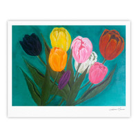"Christen Treat ""Tulips"" Rainbow Flower Fine Art Gallery Print"