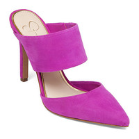 JESSICA SIMPSON CHANDRA TWO-PIECE DRESS MULES TRUE MAGENTA 9M