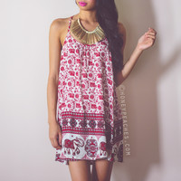 Sun Seeker Swing Dress - Red