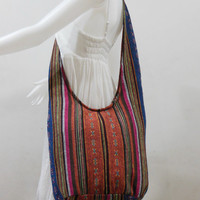 Handbag Hippie Hobo Cross body Messenger Boho Bag Hmong Purse Nepali Cotton E-HM08