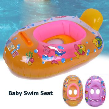 Cartoon Baby Infrant Inflatable Swimming Ring Water Sports Float Swimming Seat Rings