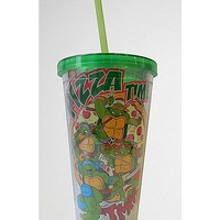 Pizza Teenage Mutant Ninja Turtle Cup with Straw - Spencer's