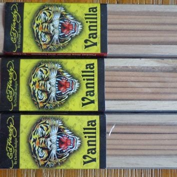 Lot (3) Pocket Size Incense + Wood Tray Authentic Ed Hardy 6 Scent To Choose