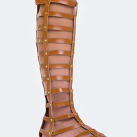 KNEE HIGH GLADIATOR SANDAL