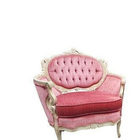 Vintage Pink French Club Chair