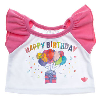 Pink Birthday Tee | Build-A-Bear