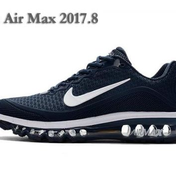 Various Styles Nike Air Max 2017. 8 KPU Dark Blue White Sneakers Men's Running Shoes