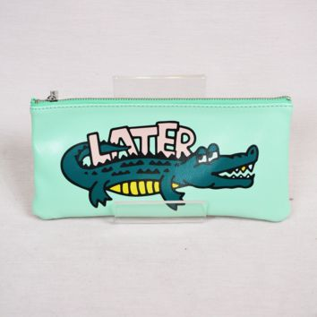 later gator pencil case - green