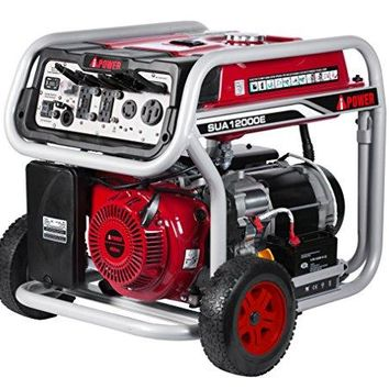 A-iPower SUA12000E 12,000 Watts Gasoline Portable Generator Manual Start