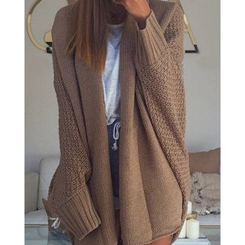 Shop Chunky Cable Knit Cardigan on Wanelo