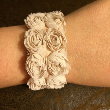 Flower and Leather Women's and Girl's Essential Oil Diffuser Bracelet with Lobster Clasp