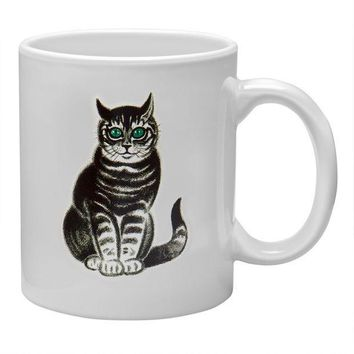 PEAPGQ9 Green Eyed Cat Coffee Mug